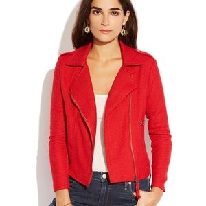LUCKY BRAND | Red Tweed Moto Jacket